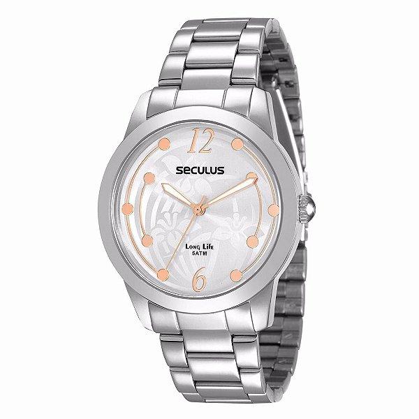 Relógio Seculus Long Life - 28472L0SVNA2 Feminino