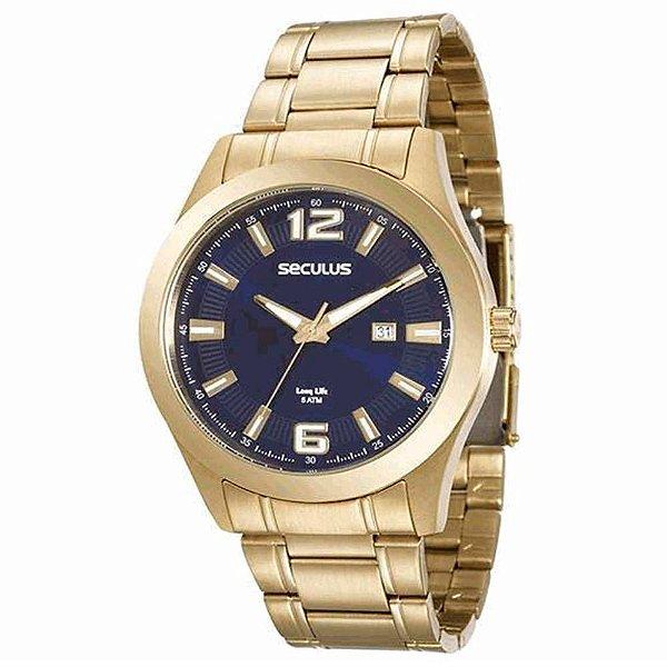 Relógio Seculus Masculino Long Life - 20409GPSVDA3