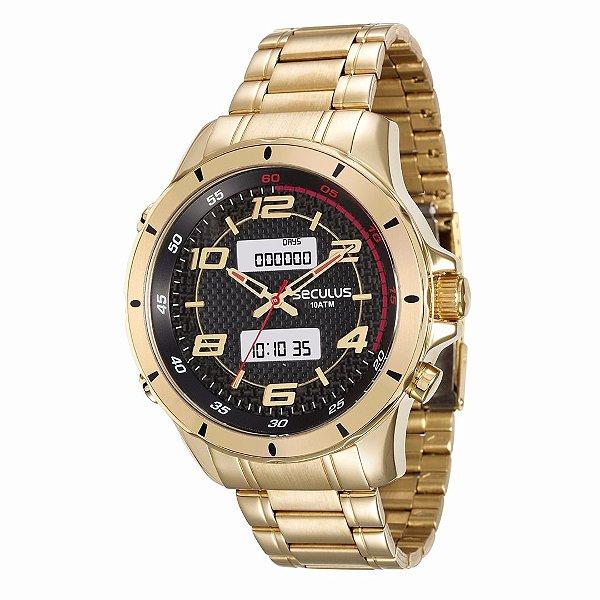 Relógio Seculus Masculino - 28771GPSVDA1