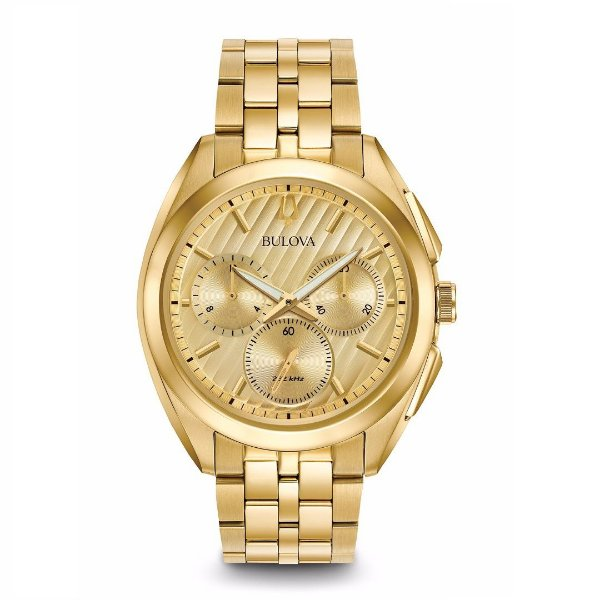 Relógio Bulova Curv Chronograph Watch  WB31890G Masculino