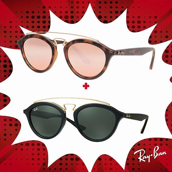 Kit Óculos de Sol Ray-Ban - RB4257 60922Y53 e RB4257 601/7150