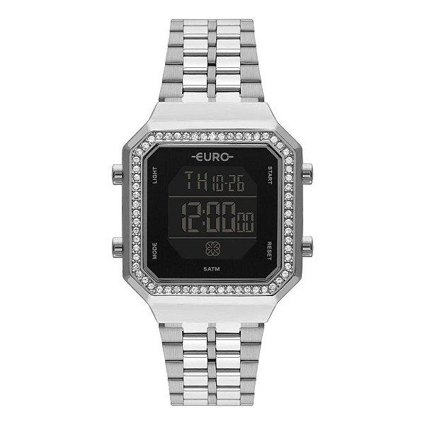 Relógio Euro Fashion Fit Prata Digital EUBJK032AD/3P Feminino