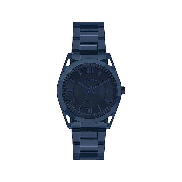 Relógio Euro Feminino Metal Frame Azul - eu2035ypq/4a