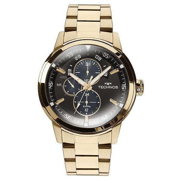 Relógio Technos Masculino Dourado 6P57AA/4P