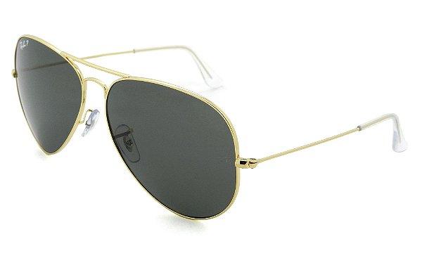 Óculos de Sol Ray-Ban Aviador  Polarizado RB3025L  001/58 14 3P