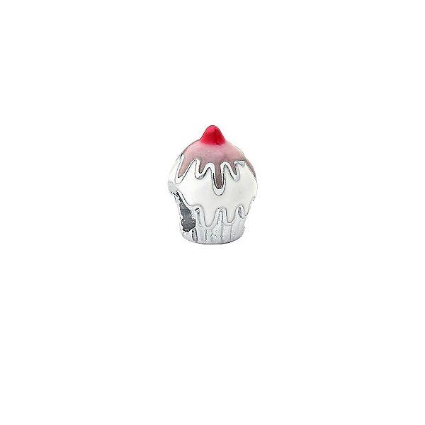 Pingente Charm Cupcake Prata 925