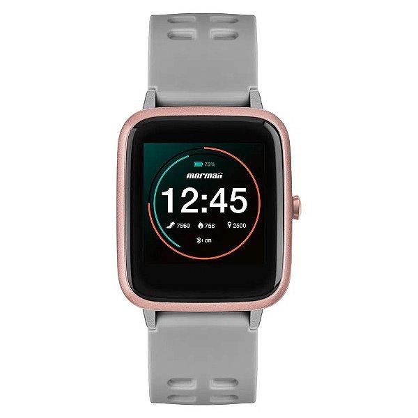 Relógio Smartwatch Mormaii Cinza Molife AC/8K Unissex