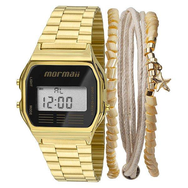 Relógio Mormaii  Digital Dourado MOJH02ABK4P Unissex