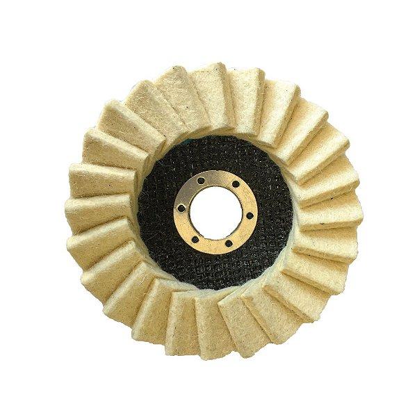 Disco de Polimento Feltro Light 24 Aletas 115x22 mm
