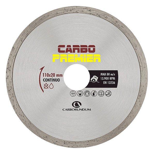 Disco de Corte Carbo Premier Diamantado Contínuo 110 x 5 x 20 mm