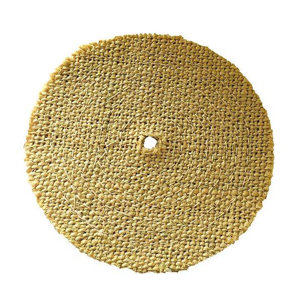 Disco de Polimento Costurado Sisal Compacto Natural - 200 mm