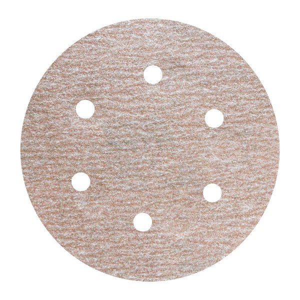 Disco de Lixa Pluma A275 Com 6 Furos Grão 150 - 152 mm