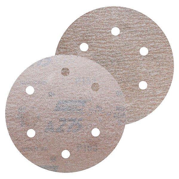 Disco de Lixa Pluma A275 Com 6 Furos Grão 180 - 152 mm