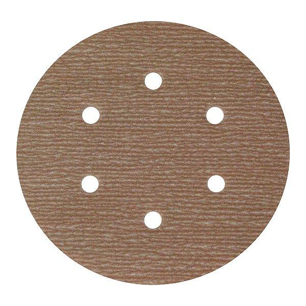 Disco de Lixa Pluma A275 Com 6 Furos Grão 800 - 152 mm