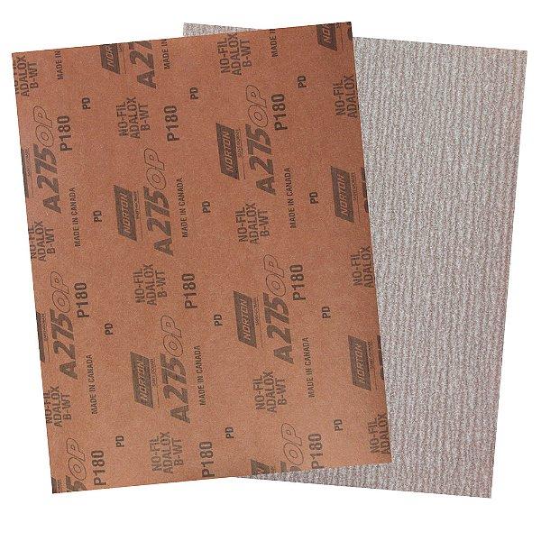 Folha de Lixa A275 Grão 180 - 230 x 280 mm