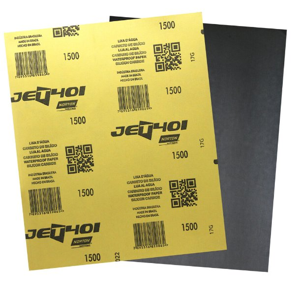 Folha de Lixa D'Água JET 401 Grão 1500 - 230 x 280 mm