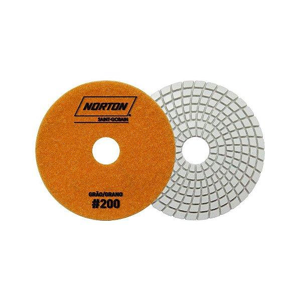 Disco de Lixa Diamantada Flexível Brilho D'Água Grão 200 - 100 x 20 mm