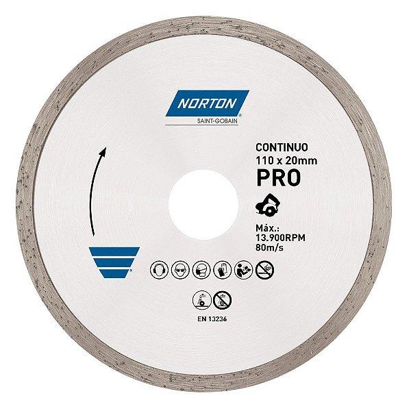 Disco de Corte Pro Contínuo Diamantado 110 x 20 mm