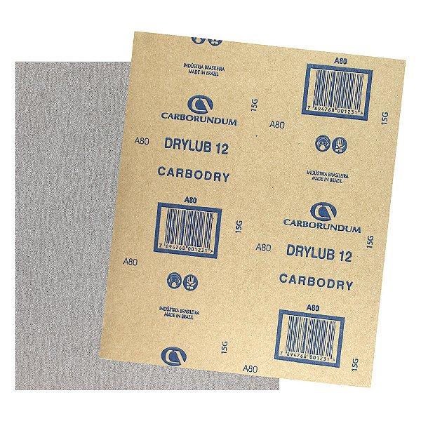 Folha de Lixa CAR12 DryLub Grão 80 - 225 x 275 mm