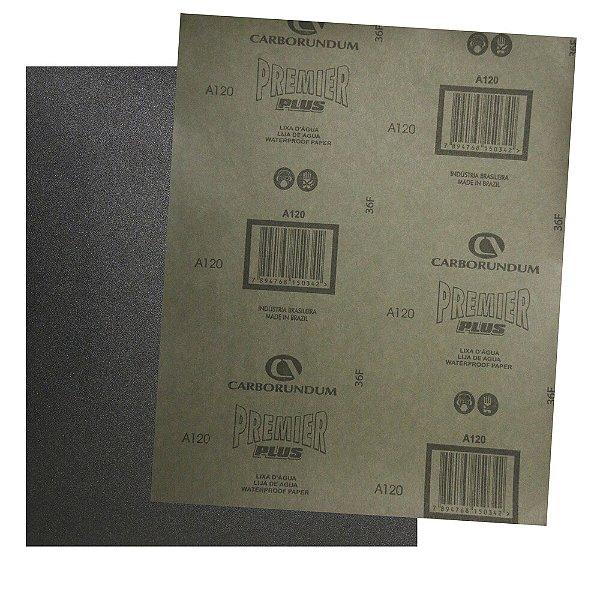 Folha de Lixa D'Água CAR87 Grão 120 - 230 x 280 mm