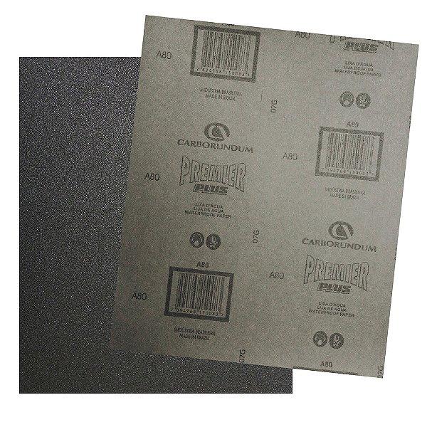 Folha de Lixa D'Água CAR87 Grão 80 - 230 x 280 mm