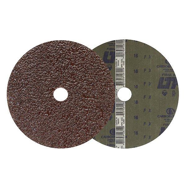 Disco de Lixa Fibra CAR55 Grão 16 180 x 22 mm