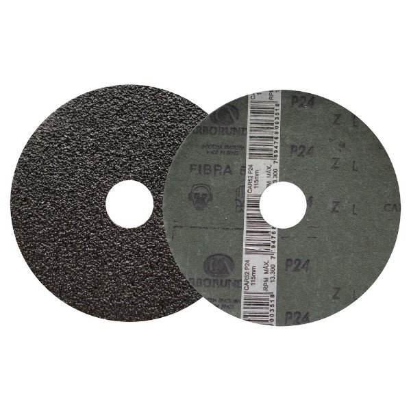 Disco de Lixa Fibra CAR52/CAR53 Grão 24 115 x 22 mm