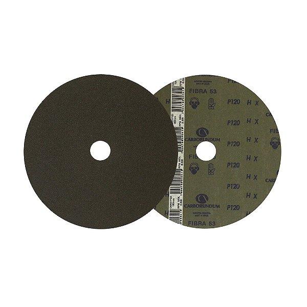 Disco de Lixa Fibra CAR52/CAR53 Grão 120 180 x 22 mm