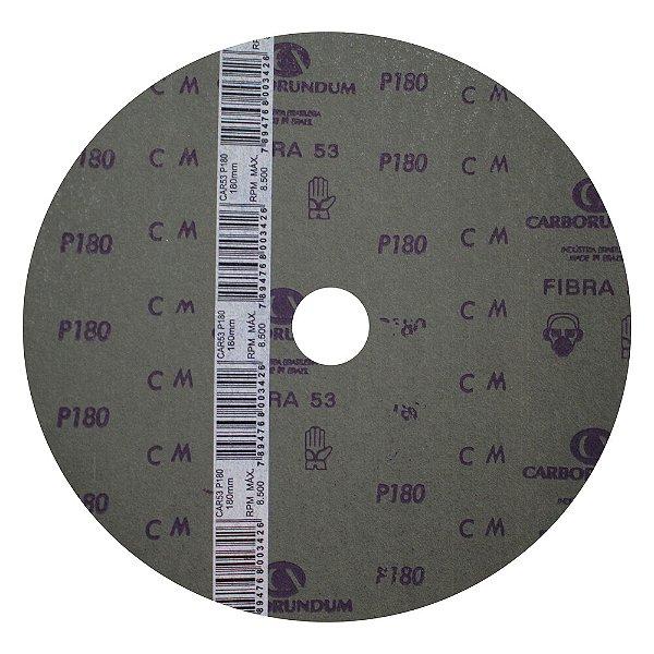 Disco de Lixa Fibra CAR52/CAR53 Grão 180 180 x 22 mm