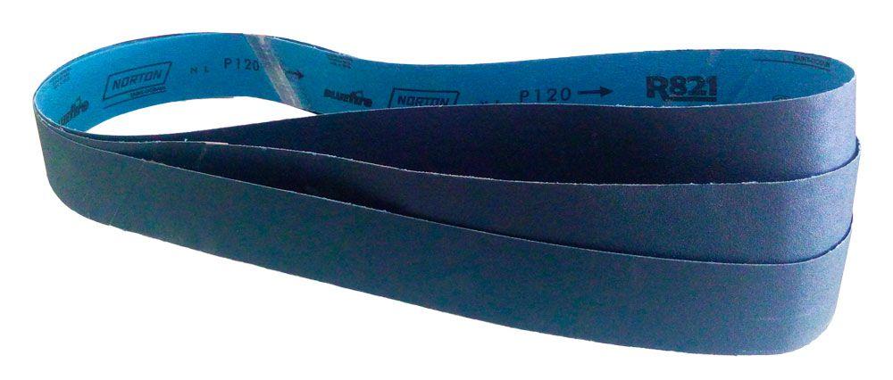 Cinta de Lixa R821 Zircônio Grão 100 50 x 1000 mm - 3 Unidades