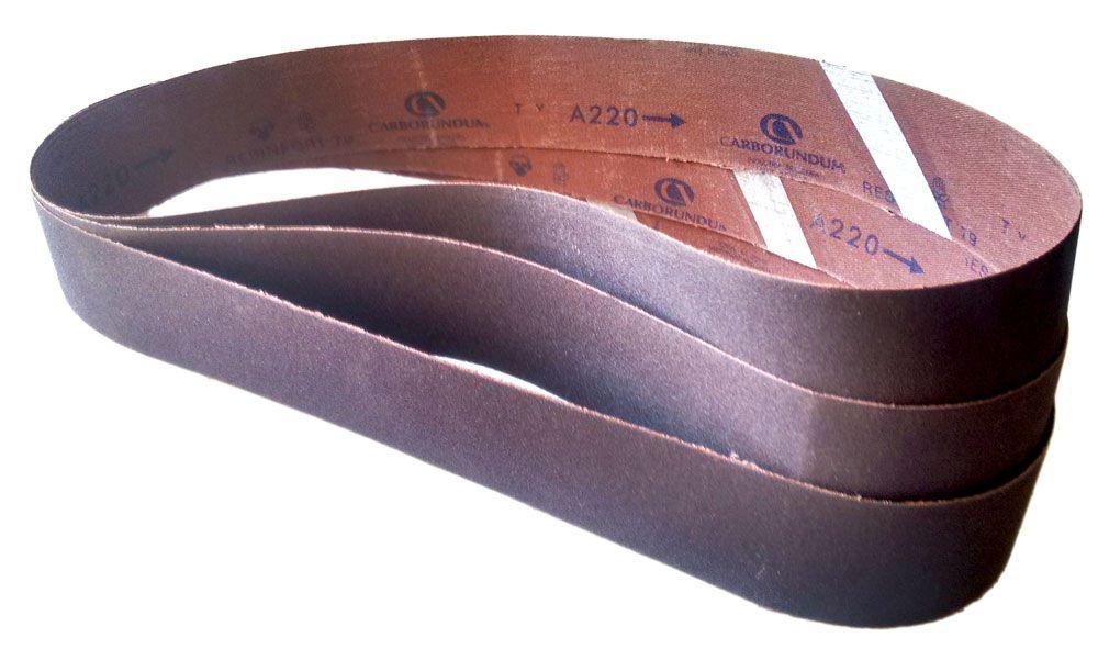 Cinta de Lixa CAR79 Óxido de Alumínio Grão 220 - 50 x 1000 mm - 3 Unidades