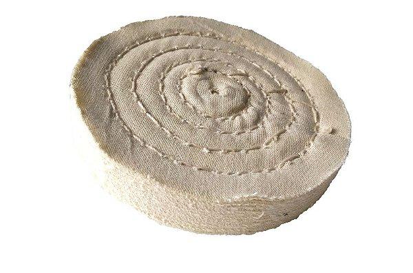 Disco de Polimento Costurado Algodão Puro - 100 mm