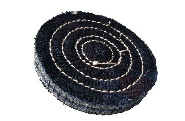 Disco de Polimento Costurado Brim Puro - 100 mm