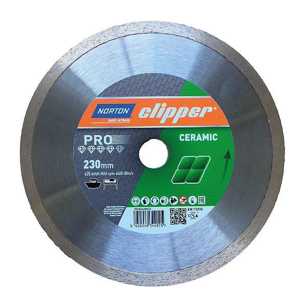 Disco de Corte Clipper Porcelanato Diamantado Pro Ceramic 230 x 25,4 mm