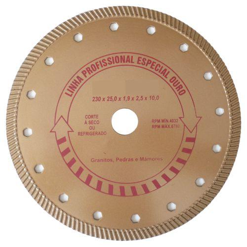Disco de Corte Braskoki Turbo 230 x 25,4 mm