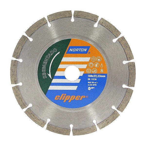Disco de Corte Clipper Segmentado Diamantado 180 x 22,23 mm