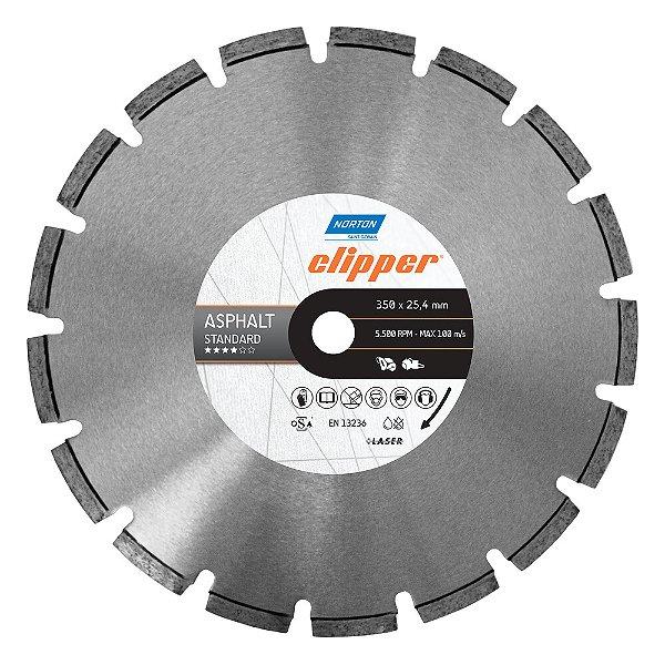 Disco de Corte Clipper Segmentado Diamantado Asfalto Standard 350 x 25,4 mm