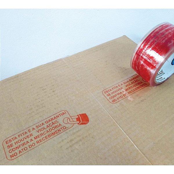 Fita Transparente Acrílica Personalizada PP47 (Micras) - Cadeado de Anti Violação - 48 x 50 m