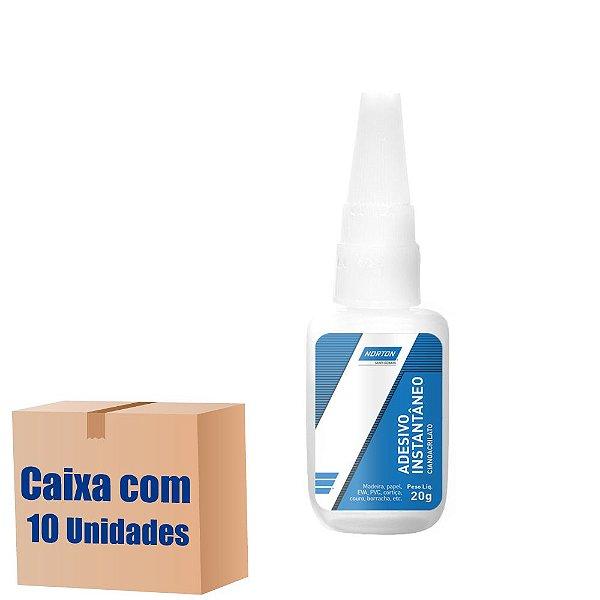 Caixa com 10 Adesivo Instântaneo Cianoacrilato 20 g