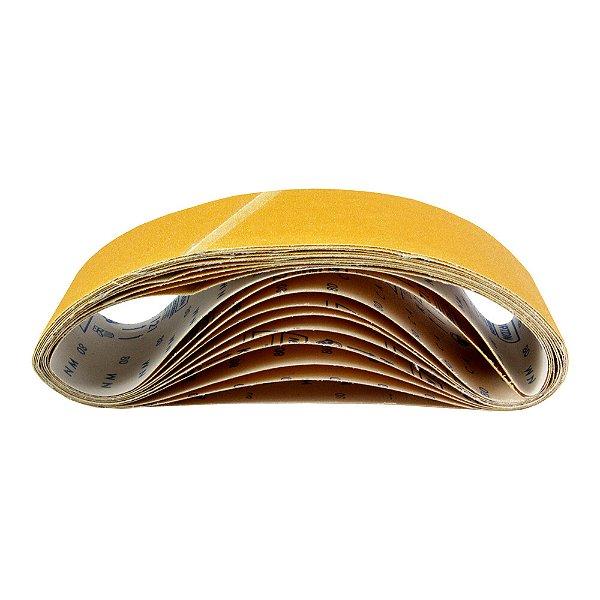 Caixa com 50 Cintas de Lixa Estreita Adalox Pano K121 Grão 80 610 x 75 mm