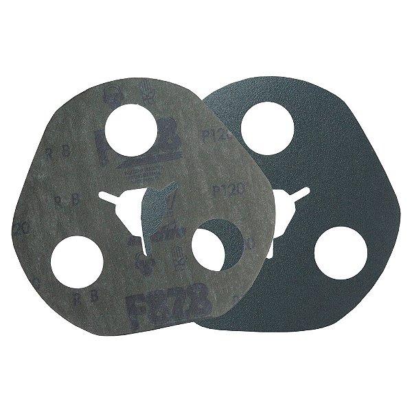 Caixa com 100 Disco de Avos Fibra F828 Grão 120 115 x 22 x 3 mm