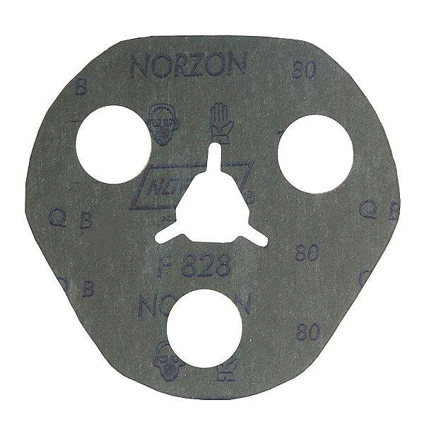 Caixa com 100 Disco de Avos Fibra F828 Grão 80 115 x 22 x 3 mm