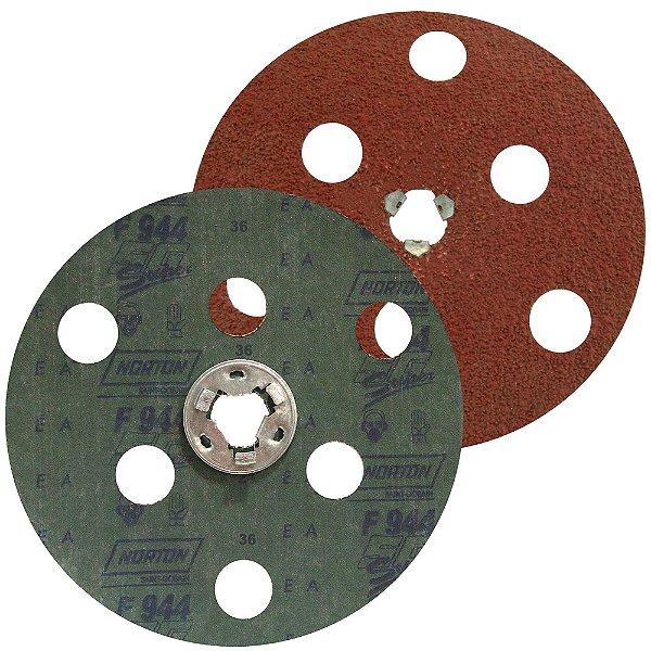 Caixa com 25 Disco de Avos Fibra F944 Troca Rápida Grão 36 180 x 22 mm