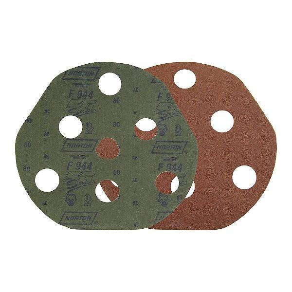 Caixa com 25 Disco de Avos Fibra F944 Troca Rápida Grão 80 180 x 22 mm