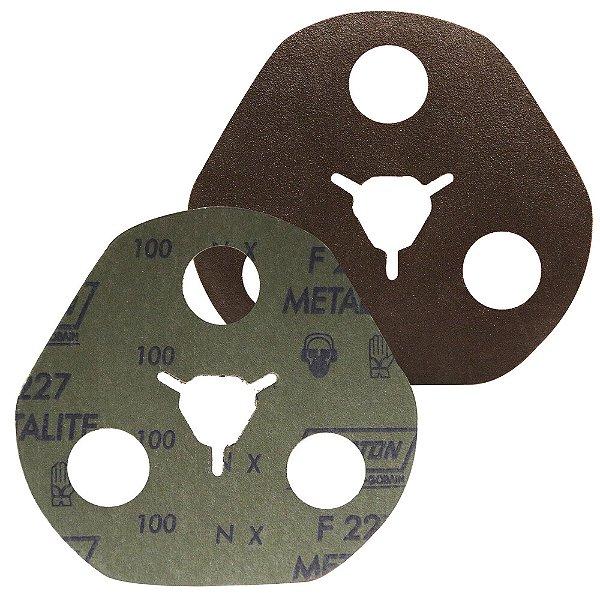 Caixa com 100 Disco de Avos Fibra Metalite F227 Grão 100 115 x 22 mm