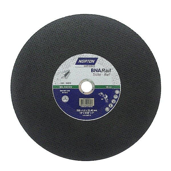 Caixa com 10 Disco de Corte BNA Rail Azul 356 x 4 x 25,4 mm