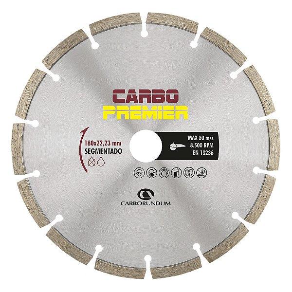 Disco de Corte Carbo Primier Diamantado Segmentado 180 x 22,23 mm Caixa com 5