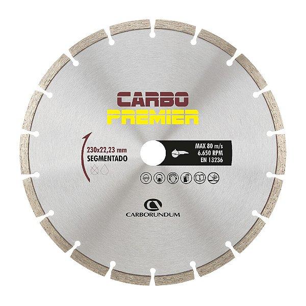Caixa com 5 Disco de Corte Carbo Primier Diamantado Segmentado 230 x 22,23 mm