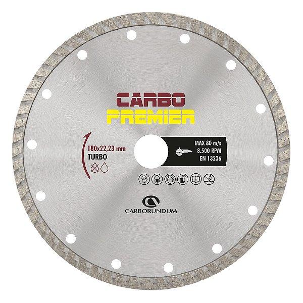 Caixa com 5 Disco de Corte Carbo Primier Diamantado Turbo 180 x 22,23 mm