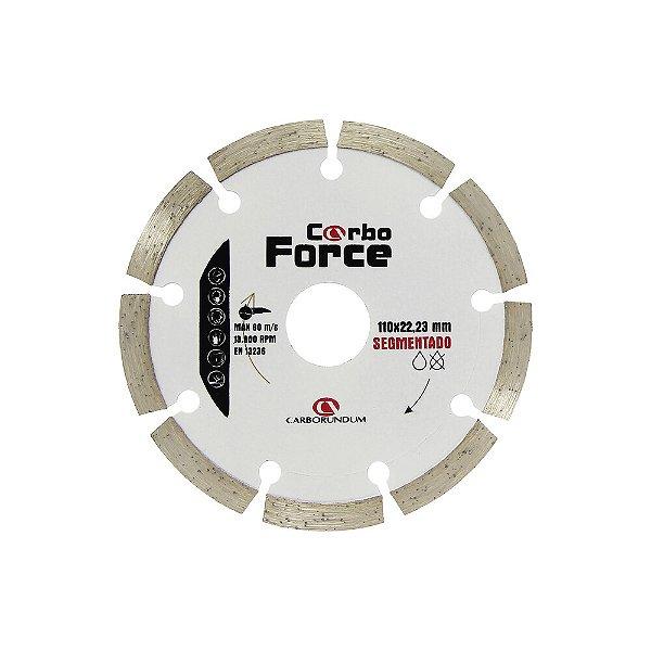 Caixa com 10 Disco de Corte Carboforce Diamantado Segmentado 110 x 22,23 mm